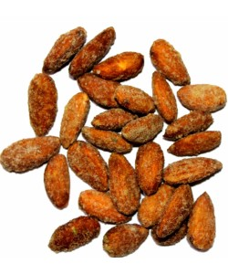 Roasted Almonds coated with Gulkand and Rose Petals