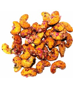 Roasted Cashew Nuts coated with Gulkand and Rose Petals