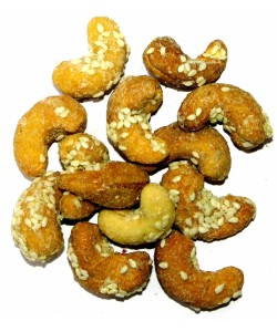 Honey Roasted Cashew Nuts With Seasame Seeds