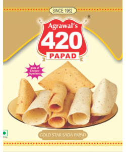 Agrawal's 420 Gold Star Sada Papad